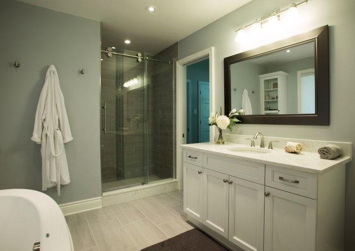 custom bathroom by Copperstone